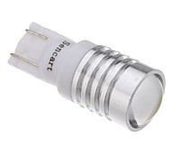 2Stk T10 1.5W 1-LED 70-90lm 6000-6500K Cool White LED Glühbirne mit Optical Glass Convex Lens (12V)