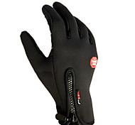 Tocar la pantalla a prueba de viento de bicicletas Ciclismo Manos Guantes cálidos para los hombres (par / tamaño-L)