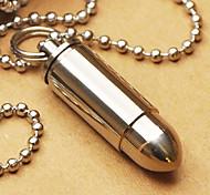 Tiremet Titanium Waterproof Bala Pingente encanto recipiente de armazenamento com colar
