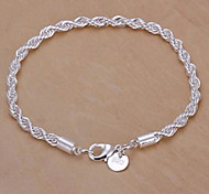 Silver Plated Copper Chain Bracelet Jewelry