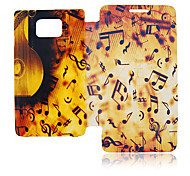 Music Symbol Leather Case for Samsung Galaxy S2 I9100