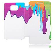 Spray Ölfarbe Ledertasche für Samsung Galaxy S2 I9100