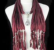 Dark Red / Black / White / Red / Purple / Gray / Pink / Khaki Pendant Necklaces Party Jewelry