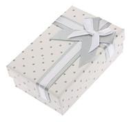 Retângulo bowknot Colar Pulseira Anéis Caixas em um conjunto