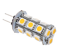 2W G4 LED Corn Lights T 18 SMD 5050 100-120 lm Warm White AC 12 V