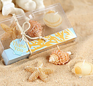 Seaside Beach Candles in Coral Design Gift Box