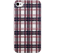 Grid Plastic Back Case for iPhone 4/4S