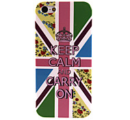 Keep Calm and Carry On Pattern Protective Hard Case Shield for iPhone 5/5S