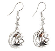 Solid Lantern Silver-Plated Earrings