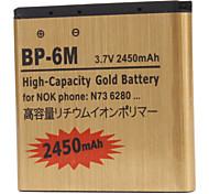 BP-6M-GD 2450mah Cell Phone Battery for Nokia 3250 3250 xpress music,6151,6233,6280,6288,9300,9300i, N73,N73 music edition,N77,N93