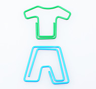 Clothes and Trousers Metal Paper Clips (10 PCS Random Color)