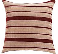 """18 """"tradizionale piazza rossa a righe in poliestere decorativo cuscino copertina"""