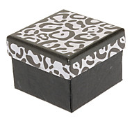 Square Zebra-Pattern Paper Ring Box