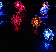 10-LED 1.2M Christmas Holiday Decoration RGB Light LED String Light