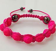 fiore di rosa braccialetto di shamballa