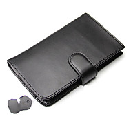 Black Double Fold Genuine Leather Wallet with Card Slot for Iphone 5