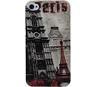 Retro Paris Eiffel Tower Pattern Plastic Hard Case for iPhone 4 4S