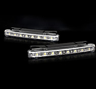 White LED with 8 LED Daytime Running Lights Set (2 PCS)