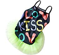 Belle robe de courroie de modèle de baiser pour Animaux Chiens (Assorted Sizes)