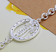 Fashion Beautiful 19cm Women's Silver Copper Bracelets