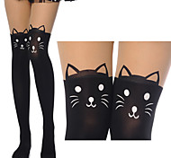 Cute Kittens Black Sweet Lolita Stockings