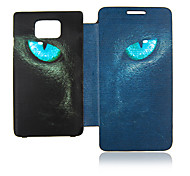 Leopard Eye Leather Case voor Samsung Galaxy S2 I9100