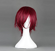 Parrucche Cosplay Cosplay Rin Matsuoka Rosso Corto Anime Parrucche Cosplay 35 CM Tessuno resistente a calore Uomo