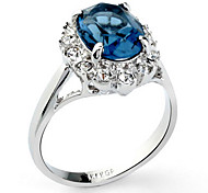 Classic Women's Royal Blue Crystal Rings(Royal Blue)(1 Pc)