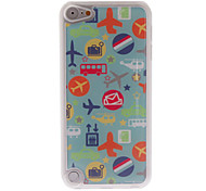 Cartoon Style Planes Pattern Epoxy Hard Case for iPod Touch 5