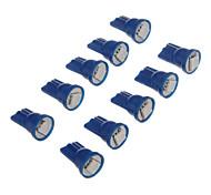 10pcs T10 1x5050SMD 10-20LM Bule Lampadina LED per auto (12V)