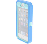 Silicone Protective Splash Proof Plastic Case Cover for iPhone 5/5S(Assorted Color)