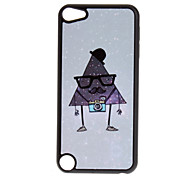 Cartoon Style Shimmering Triangle Man with Glasses Pattern Hard Case for iPod touch 5