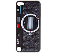 Shimmering Black Retro Camera Pattern Hard Case for iPod touch 5
