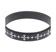 (1 Pc)Fashion Unisex Black Silicon ID Bracelet