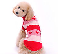 Dog Sweater / Clothes/Clothing Red Winter Stripe