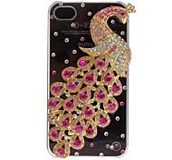 Magnificent Peacock mit Diamant Hartschalen-Gehäuse mit Kleber für iPhone 4/4S (verschiedene Farben)
