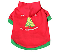 Lovely Christmas Tree Pattern Hoody T-shirt for Pets Dogs (Assorted Sizes)