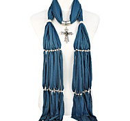 long bead cross pendant charm scarf , 12 colors.NL-1803a,b,c,d,e,f,g,h