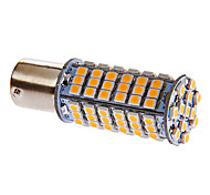 BA15S / 1156 5W 102x3528smd 306lm 3000-3500K luce bianca calda ha condotto la lampadina per auto (12V DC)