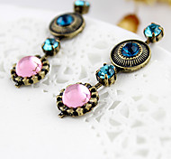 Exquisite Round Drop Earrings