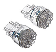 2Pcs T25 3156 24-LED 80-100LM White Light LED Bulb for Car (12V)