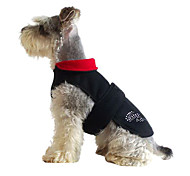 Dog Coat Red / Black Winter Solid