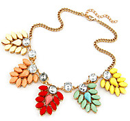 Flower Candy Color Statement Necklace