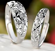 Z&X®  (2 pcs)Fashion Unisex Silver Alloy Couple Rings