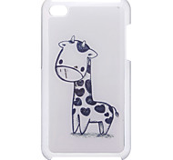 Cartoon Style Lovely Giraffe Pattern Epoxy Hard Case for iPod Touch 4