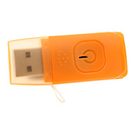 USB 2.0 Micro SD/TF Card Reader with Light Orange