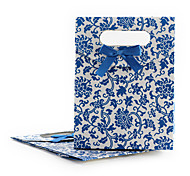 Sweet Blue Paper Jewelry Bag For Jewelry (Blue)(6 Pc)