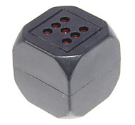 Black ABS Guess Number Style Percussion Glow Dice