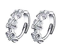 Earring Stud Earrings Jewelry Women Daily / Casual Alloy / Rhinestone Silver