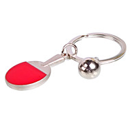 Sport Style Table Tennis Shaped Metal keychain